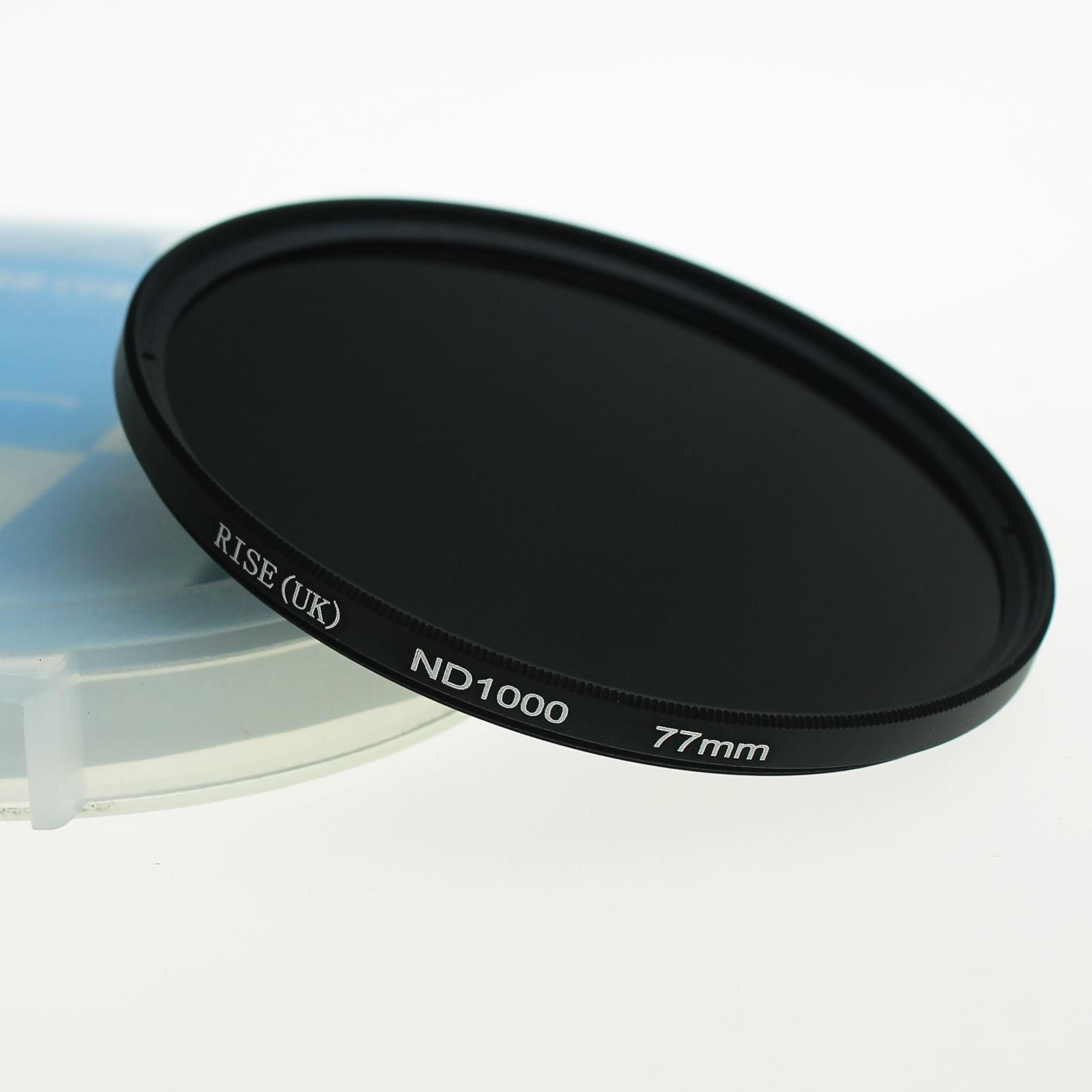 RISE 77mm slim Neutral density optical grade ND ND1000 filter for digital camera lens DV