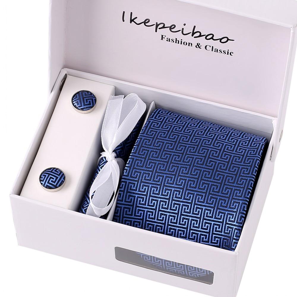 Ikepeibao Mens Blue Tiess