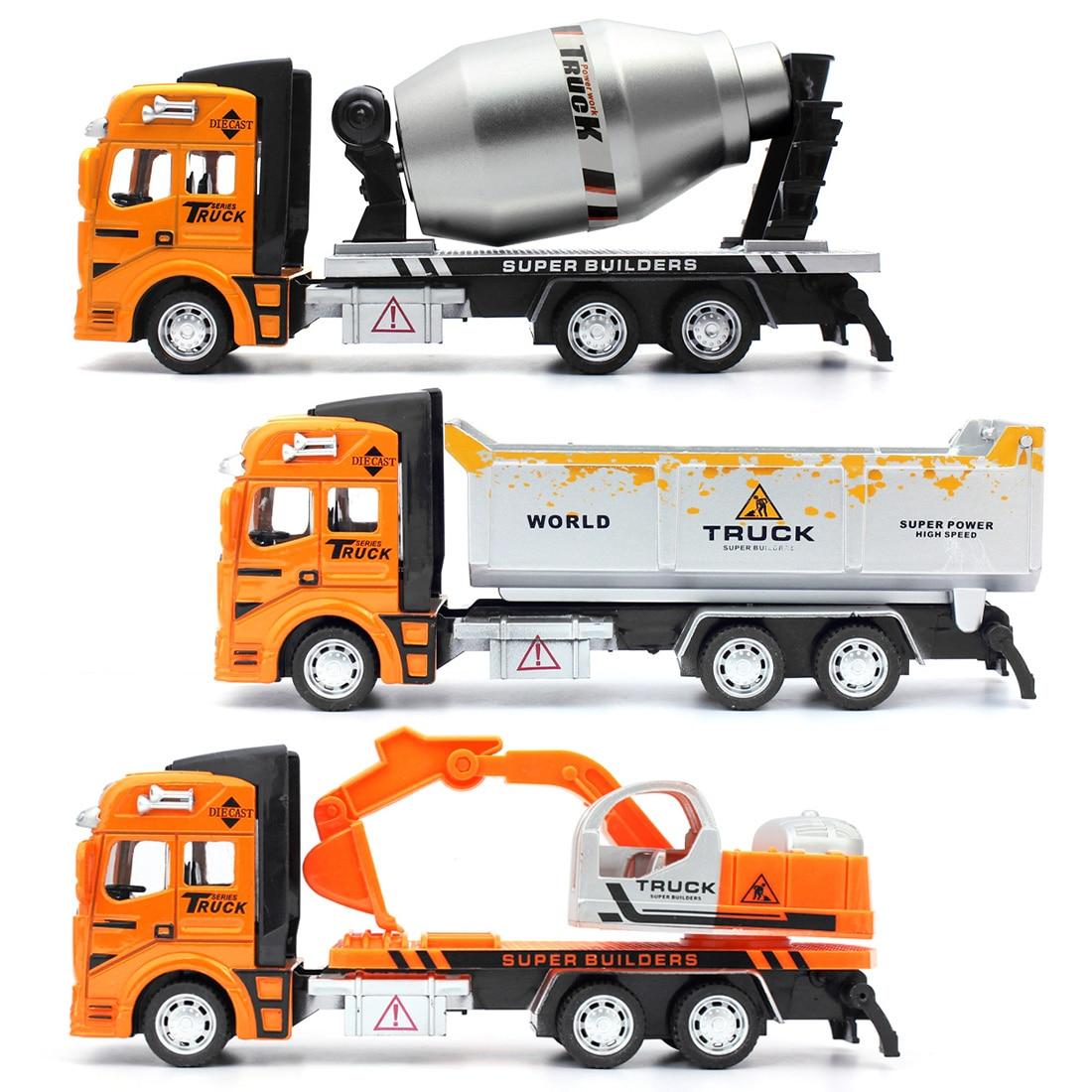 Pull Back Engineer Truck Educational Engineering Dump 1:48 Alloy for Children
