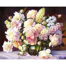 Yikee diy 5d алмазная картина цветы для настенного декора полностью