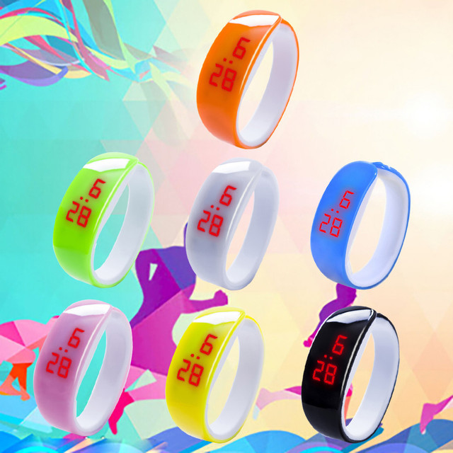 LED Digital Display Bracelet Watch Children's Students Silicone Gel Sports Watch