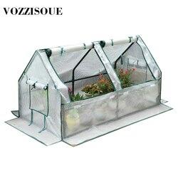 Jardín de la casa de invernaderos de planta de flor mantener caliente estante techo Efecto invernadero jardín cobertizo duradero cubierta de plástico PVC rollo de cremallera