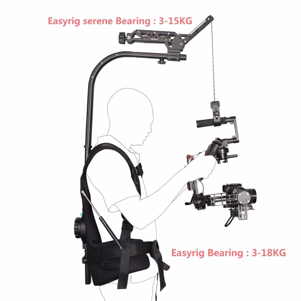YELANGU EasyRig + Easyrig serein 3-18 kg caméra vidéo et Film pour Dslr DJI Ronin M 3 axes stabilisateur de cardan Gyroscope Steadicam