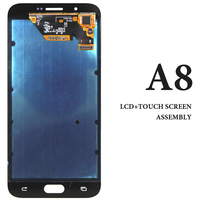 5pcs For Samsung A8 A800 A800F LCD 5 7 Inch Black White Gold Display Screen Assembly