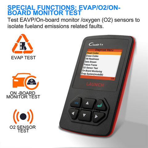 Launch X431 Creader V+ OBD OBD2 Automotive Scanner Fault Code Reader With Multi-language ODB2 Car Diagnostic Tool Auto Scanner Islamabad