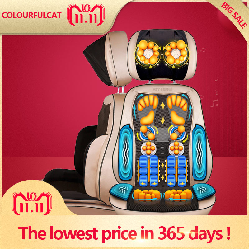 Full Body Electric Massage Chair Shiatsu Office Cervical Back Neck Leg Massage Cushion Heating Sofa Device Body Massager Home electric full body multifunctional massage mattress vibration massage device massage cushion infrared full body massager