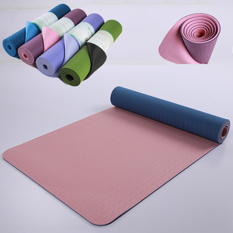 183*61*0.6CM TPE Yoga Mat Pad Non-slip Slimming Exercise Fitness Gymnastics Mat Body Building Esterilla Pilates Carpet Mats