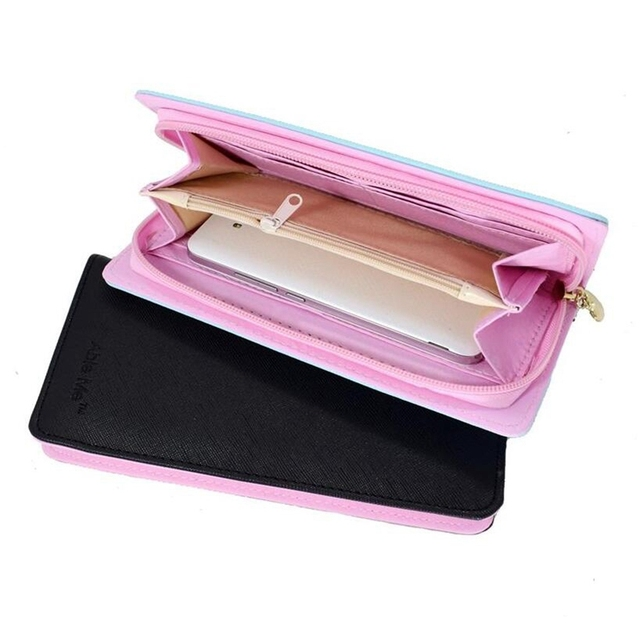 Candy Color Long Wallet