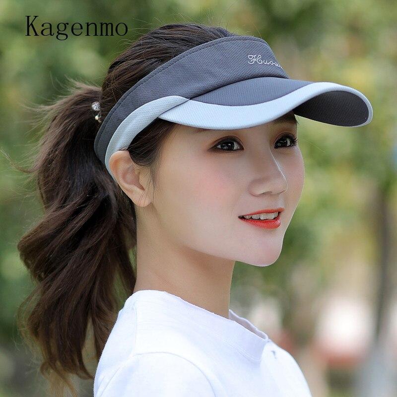529054942 US $11.54 30% OFF Kagenmo Summer male women's tennis ball cap crownless  sunbonnet sun hat baseball cap visor-in Women's Sun Hats from Apparel ...