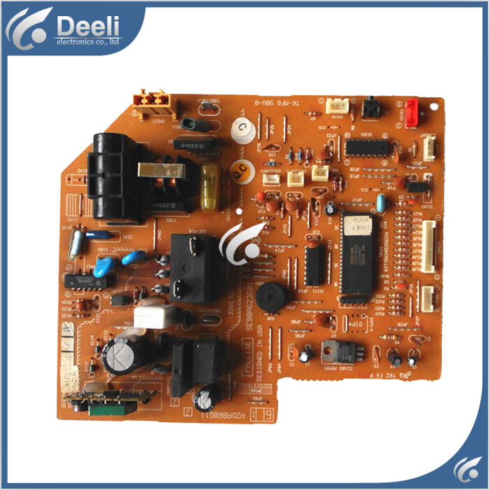 95% new for Air conditioning computer board H2DA860G11 SE98A623G01 DE00N100B PC board wire universal board computer board six lines 0040400256 0040400257 used disassemble