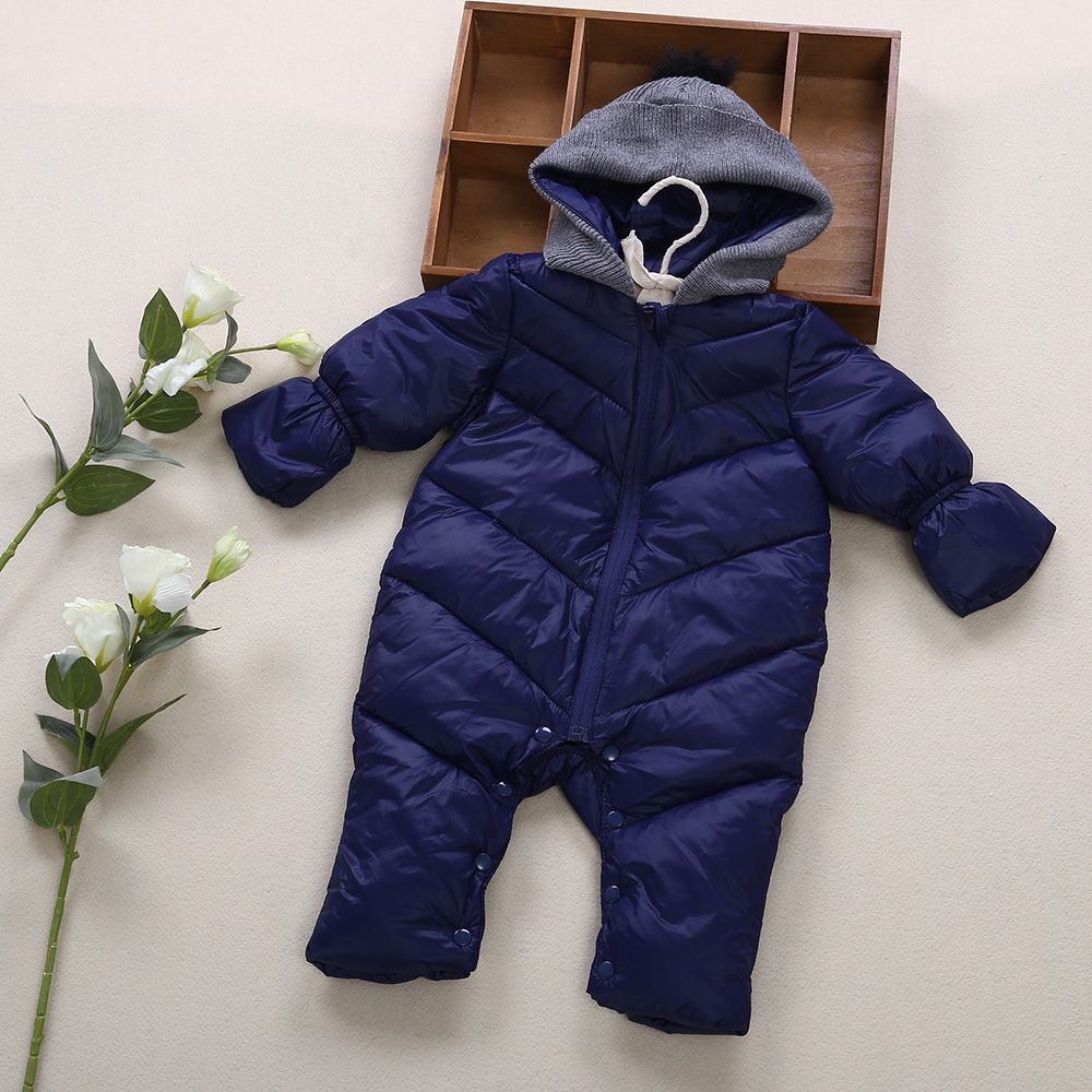 New Arrival 2 Solid Colors Winter Thick Cotton Polyester Simple Hooded Spliced Long Sleeve Babies Boy Rompers new mens colors short sleeve cotton tshirt henry kissinger quote absence