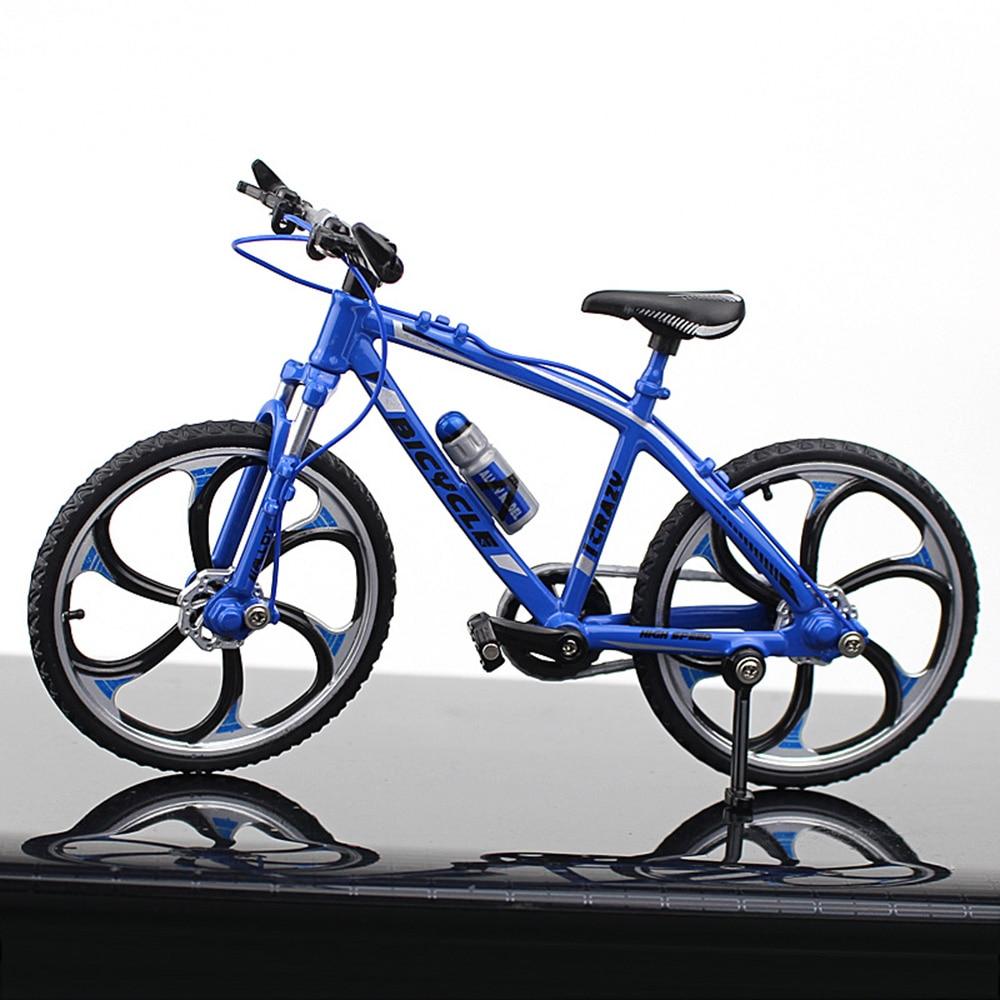 Миниатюрный велосипед коллекция игрушечный мотоцикл моделирование велосипед сплав многоцветный Декор безопасный материал Альпинизм Новинка Велосипед коллекция - Цвет: Road racing blue