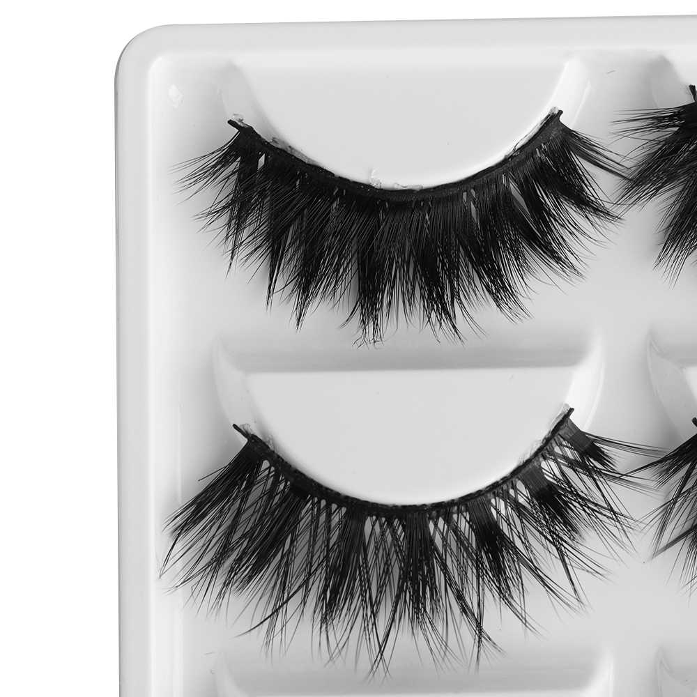 0bd1bdb7c5e ... 5 Pairs Multipack 3D Soft Mink Hair False Eyelashes Wispy Fluffy Long  Lashes Natural Eye Makeup ...