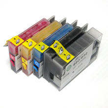 1set + For HP932 HP933 Refillable ink cartridge for HP 932 HP 933 full ink for HP Officejet 6100 6600 6700 7110 for hp 932 933 new refillable ink cartridge with arc chips with ink for hp officejet pro 6100 6600 6700 7100 free shipping