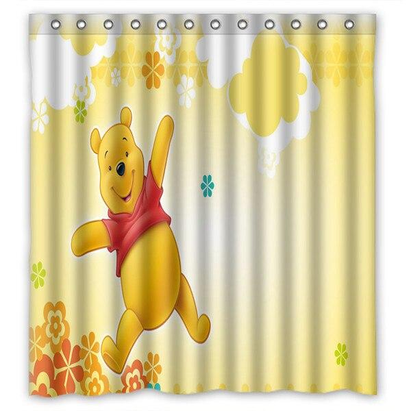 66x72 Winnie The Pooh Shower Curtain 72x72 Inch Dragon Ball Z Bleach Fairy Tail Naruto Together