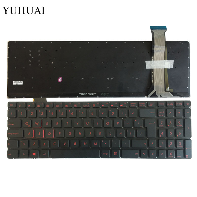 New Latin FOR ASUS GL552 GL552J GL552JX GL552V GL552VL GL552VW N552VW N552VX G771JM G771JW LA backlit black laptop keyboard nordic keyboard for asus gl552 gl552j gl552jx gl552v gl552vl gl552vw n552vw n552vx g771jm g771jw backlit black laptop keyboard