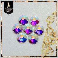 Grade AAAAA Luxury 16ss AB 3 8 To 4 0 Mm Crystals Rhinestones Hot Fix Flat