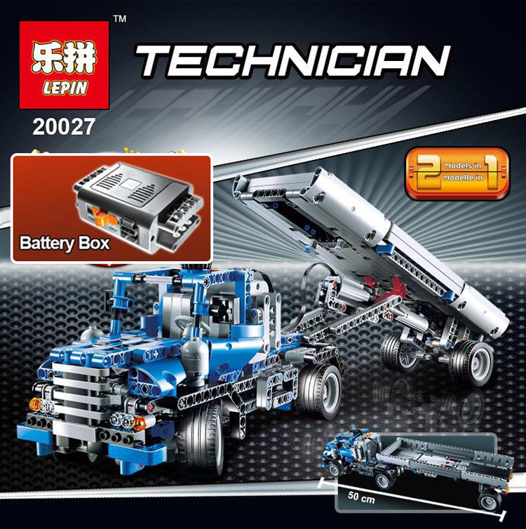 Lepin 20027 720Pcs Technic Mechnical Series The Container Truck Set Children Educational Building Blocks Bricks Toys Model 8052 decool 3345 technic city series mini container truck 119pcs building block educational toys for children compatible legoe