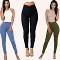 2016 New Fashion Plus Size Women High Waist Pencil Jeans Pants Fit Lady Jeans Plus Size Sexy Slim Elastic Skinny Pants Trousers