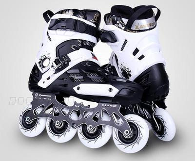 Adults Inline Skates Shoes for FSK Slalom Daily Skating Patin with 4X80mm / 3X110mm Aluminium Alloy CNC Frame Base Durable PU slalom fsk inline skates patines for adults daily skating sports with 85a pu wheels abec 7 bearing aluminium alloy frame base
