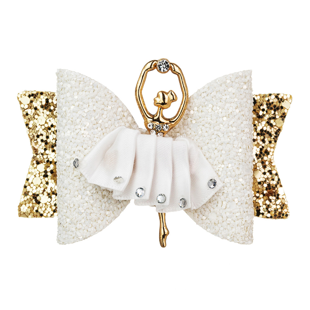 Thumblina Ballerina Glitter Bow Sparkly Hair Clip For Women Girls Hairpin Children Kids Barrettes Hair Accessories