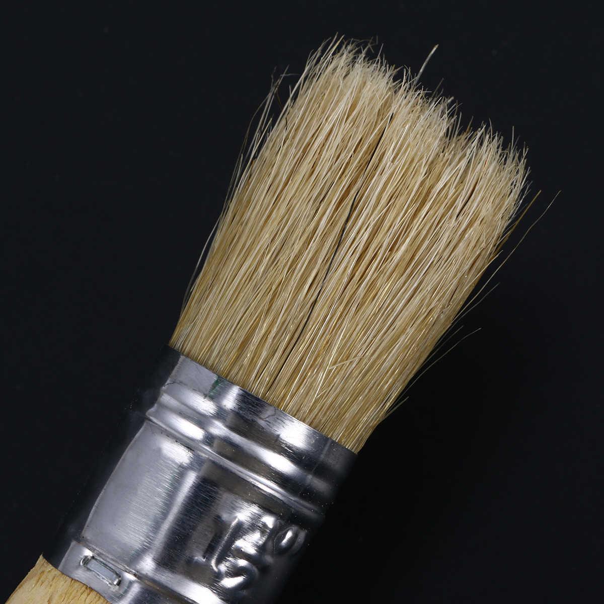 25mm pintura de cera pincel pintura encerado claro cepillo de cera suave para muebles plantillas Folkart decoración del hogar brochas grandes de madera
