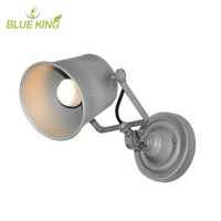 iron Edison Vintage Loft Aisle Wall Lamp For Balcony Entrance way American Industrial retro Lamp110 240v grey color