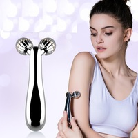Japan Portable Beauty Instrument Silver 3D Ball Facial Massager Y Type Face Lift Tools Body Shaping