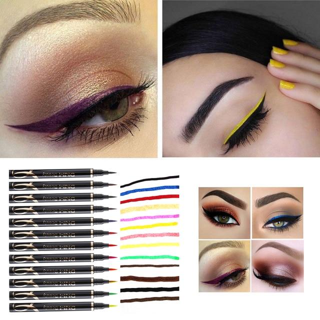 1pc New Super Fine Matte Eyeliner  Waterproof Liquid Long Lasting Eye Liner Pen Party Eye Cosmetic Tools 3