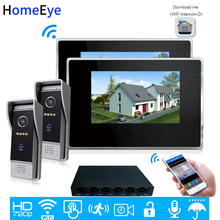 720P WiFi IP Video Door Phone Video Intercom 2-2 Home Access Control System Android IOS App Remote Unlock Touch Screen Wholesale 720p wifi ip video door phone video intercom android ios app remote unlock home access control system 1 6 poe switch wholesale