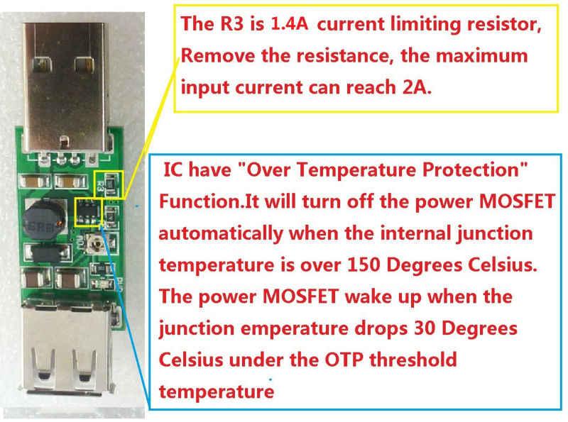 2x7 W USB 5V à 9V 12V 15V convertisseur cc réglable Module de suralimentation pour LED contrôleur sans fil chargeur solaire