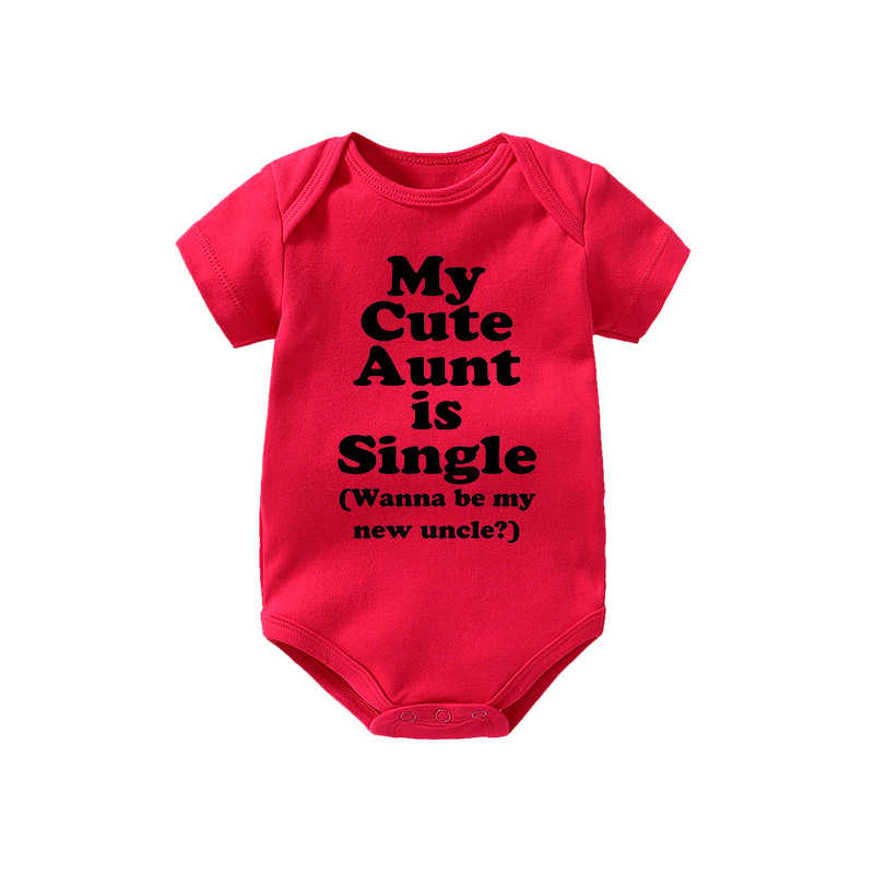 0b02b13b8911 ... Culbutomind Cotton Cute My Aunt Baby Clothes Short Sleeved clothing  black bodysuit Boys Girls 0- ...
