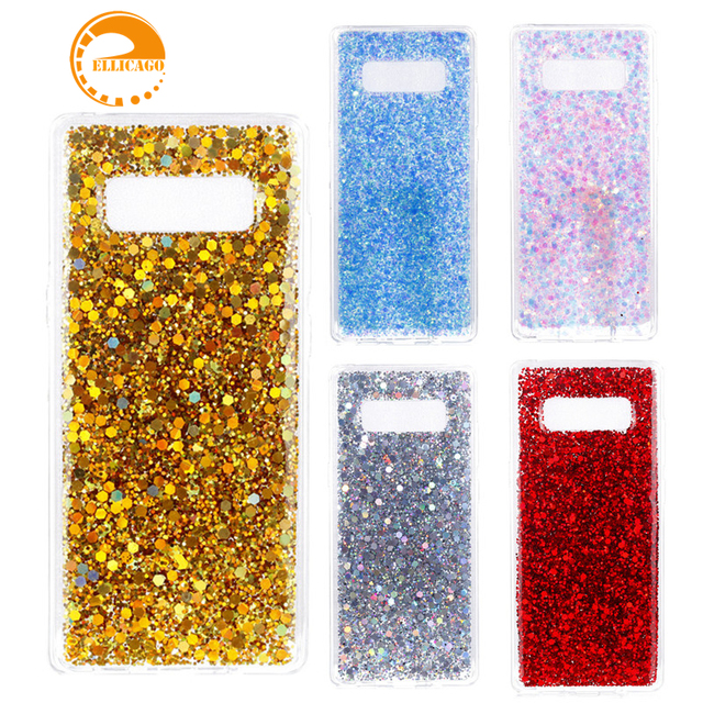 premium selection b11b5 f2f6f US $2.61 29% OFF|for Samsung Note 8 case Samsung Galaxy Note8 case cover  luxury glitter color case capas cute shell galaxy note 8 cases and cover-in  ...
