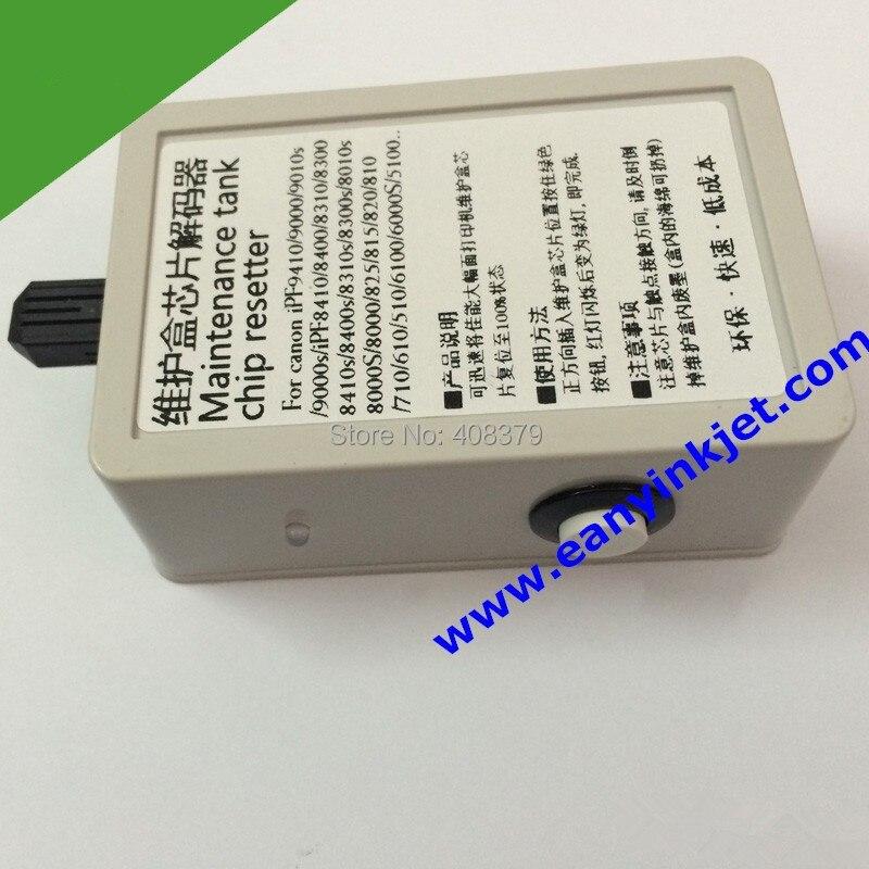 IPF8410 resetter IPF8410 plotter maintenance tank chip resetter for Ca non iPF8410 printer plotter