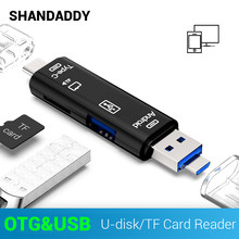 3 in 1 Type C/Micro USB OTG Card Adapter Type C/USB/Micro USB SD TF memory Card Reader Voor Andrio PC Mac Computer Verborgen USB(China)