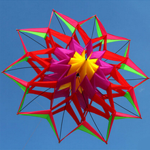 Free Shipping High-quality 3D Lotus Flower Kite With Handle And Line Good Flying Factory Outlet Outdoor Sports Toys