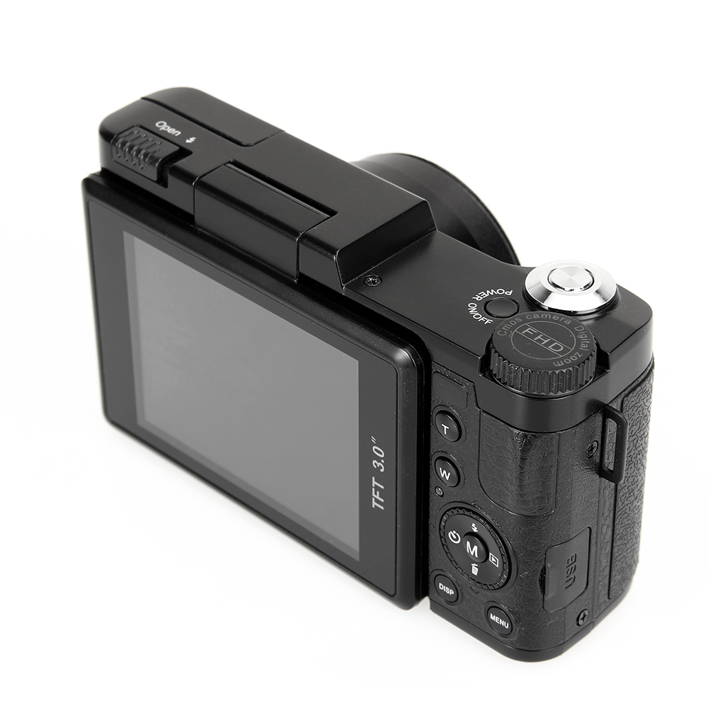 "3"" TFT LCD Full HD 24MP Digital Camera Video 1080P Camcorder CMOS Video Lens  + Filter Mini Digital Camera(China)"