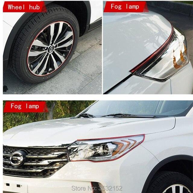 8m car styling plating wheel protector hub car decorative accessories for hyundai elantra ix35 solaris accent