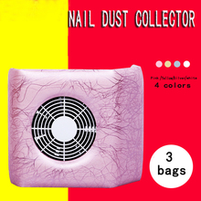 4  Colors Nail Fan Art Dust Suction Collector Manicure Filing Acrylic UV Gel Machine Nail Dryer Art Tools Nail Dust Collector