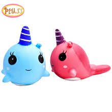 Squishy whale unicorn soft squishies small noel skuishy comida licorne regalos originales y divertidos halloween squishy