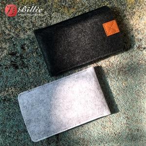 Image 2 - טלפון תיק צמר הרגיש פאוץ מגן מקרה תיק עבור iphone XR מקרי כיסוי טלפון נייד בעבודת יד שקיות עבור iphone xr 6.1 אינץ אפור