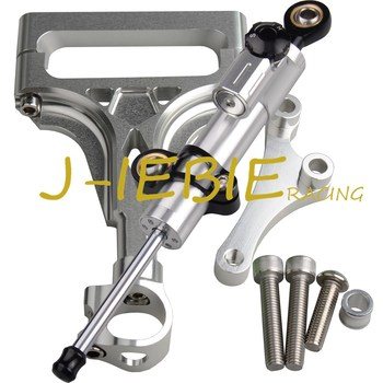 CNC Steering Damper Stabilizer and Silver Bracket Mounting For Kawasaki Z1000 Z750 2003-2009 2004 2005 2006 2007 2008