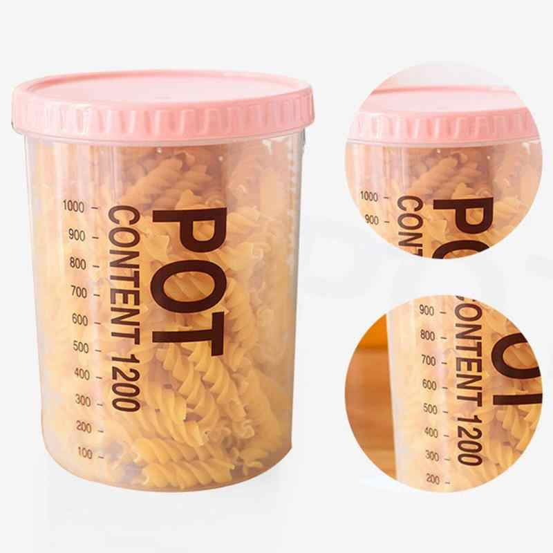 PP transparente Selado Latas Rodada Recipientes de Comida de Plástico de Cozinha Frigoríficos Manter Fresco Caixa de Tanques De Armazenamento para Uso Doméstico de Abastecimento