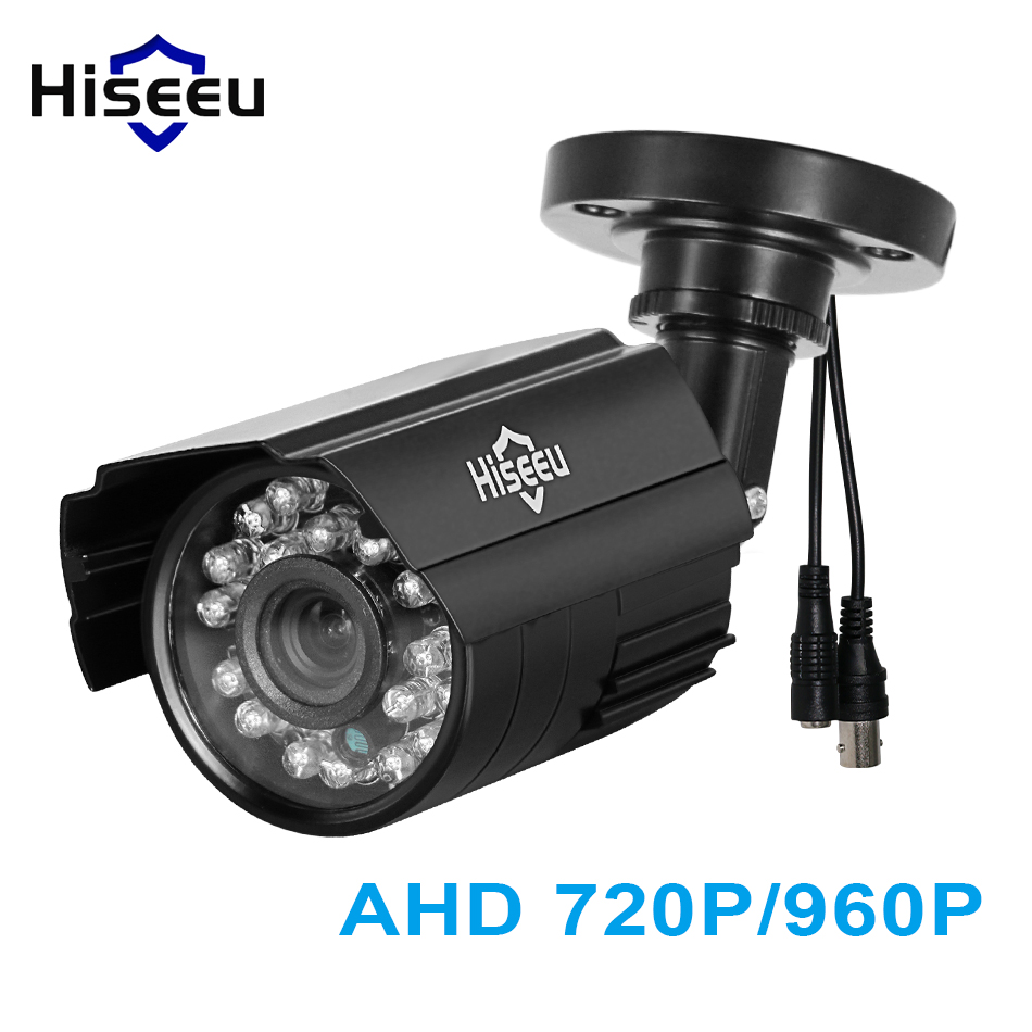 Hiseeu AHD 720P 960P CCTV camera Metal waterproof outdoor indoor IR camera home security surveillance system plug and play 1.3MP