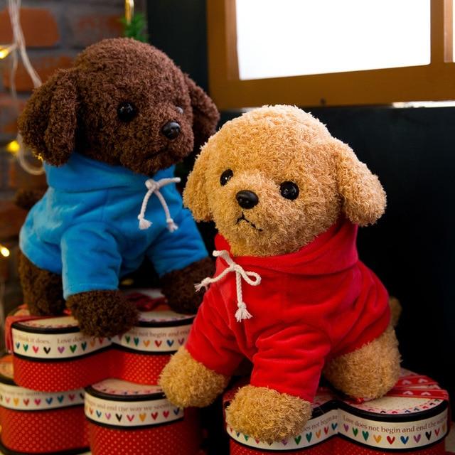 18cm Cute Simulation Puppy Kids Dolls Curly Plush Teddy Dog Stuffed Pet Soft Anime Toys For Children Birthday Christmas Gifts 3