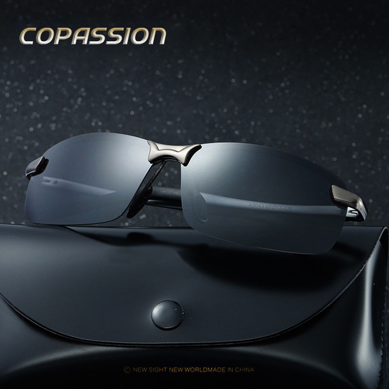 2017 Brand Polarized Sunglasses Men women Rimless design Sport Sun Glasses Driving Goggle UV400 Eyewear oculos de sol masculino
