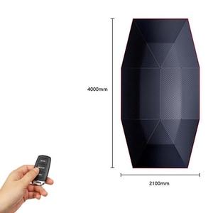 Image 4 - แบบพกพาอัตโนมัติรถร่มรถกลางแจ้งเต็นท์หลังคาUVชุดป้องกันดวงอาทิตย์Shadeด้วยรีโมทคอนโทรล