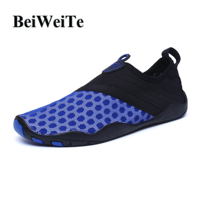 Men Swimming Water Shoes Beach Shoes Big Size Quick-dry Diving Aqua Sneakers For Male Breathable Walking Summer Outdoor Footwear