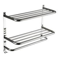 Hotel Towel Rack stainless steel 304 bath towel rack 3 level wall mount bathroom shelves for bathroom accessories set