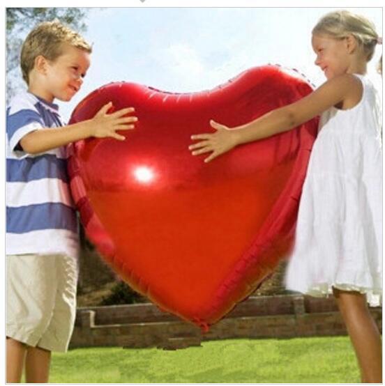 1 adet / grup Büyük boy kalp balon 75 CM büyük AŞK helyum balon düğün için / 1st doğum günü partisi dekorasyon sevgililer günü globos